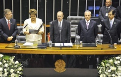 Dilma Rousseff takes the oath of office of the President of Brazil.