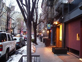 East 5th Street between Second Avenue and Cooper Square is a typical side street in the heart of the East Village