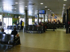 Departure area at Florence Airport