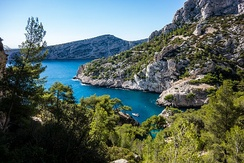 Calanques National Park in Bouches-du-Rhône is one of the best known protected areas of France.