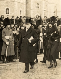 At the funeral of George V, 1936