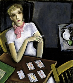 Girl with Cards by Lucius Kutchin, 1933, Smithsonian American Art Museum