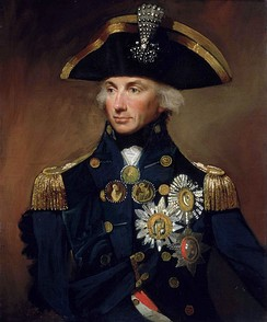 An oil canvas portrait of Admiral Horatio Nelson, 1st Viscount Nelson from 1799