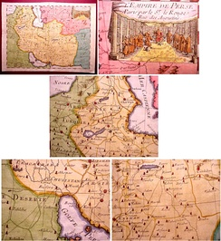Map showing Shirvan, Caucasus and Persia (1748)