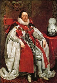 A portrait of James I by Daniel Mytens from 1621