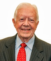 Former President Jimmy Carter gave a video address