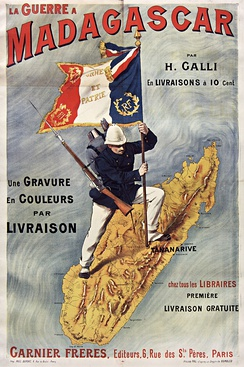 "French poster about the ""Madagascar War"""