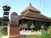 Masjid Kampung Laut, Malaysia, which is a typical traditional Malay mosque architecture in Malaysia.