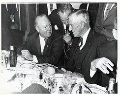Saltonstall with Boston Mayor John F. Collins (1960–1968). In 1966, Collins ran to succeed Saltonstall when he retired but lost in the Democratic primary to former Massachusetts Governor Endicott Peabody (who in turn lost to Massachusetts Attorney General Edward Brooke).