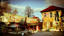 The Barn building located in Metelkova, the Ljubljana equivalent of the Copenhagen's Freetown Christiania.
