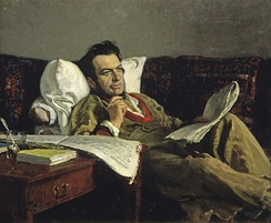 Ilya Repin's portrait of Glinka was painted thirty years after the composer's death