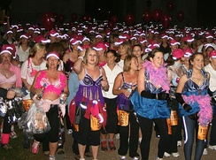 MoonWalk is a nocturnal charity marathon to raise money for breast cancer research.