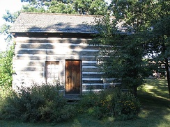 The Caspar Ott Cabin, built in 1837, is the oldest structure in Lake County.