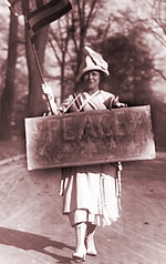 A World War I-era female peace protester.