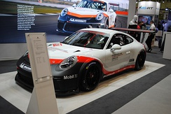 The car currently used in the championship, the Porsche 991 GT3 Cup.