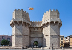 Towers of Serranos is one of the twelve gates that guarded the Christian city walls of Valencia. Built between 1392 and 1398 in the Valencian Gothic style, this gate was used by kings to enter the city.
