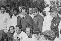 Then U.S. President Richard Nixon meeting with the Redskins, November 23, 1971.