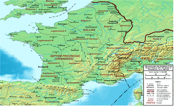 The Provinces of Gaul, circa 400 AD