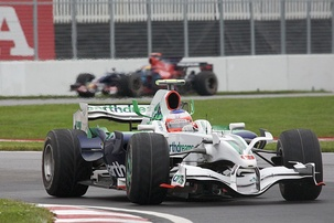 Barrichello driving for Honda at the 2008 Canadian Grand Prix