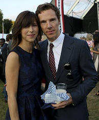 Cumberbatch with Sophie Hunter in July 2015