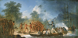 James Cook landing at Tanna island, c. 1774