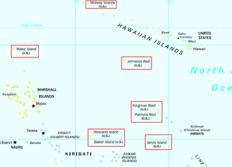 The United States Minor Outlying Islands (Navassa Island not on map)