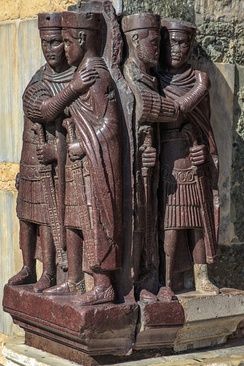 A late Roman sculpture depicting the four Tetrarchs, now in Venice, Italy[20]