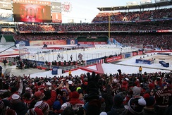 The Capitals hosted the Chicago Blackhawks for the 2015 NHL Winter Classic at Nationals Park.
