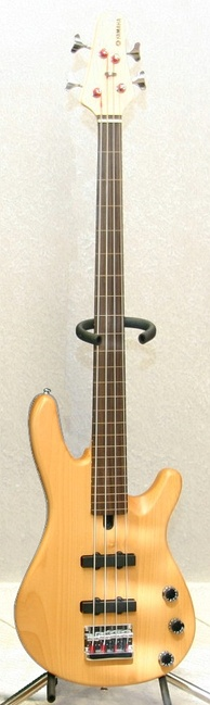 A Yamaha BB404F, which has two passive single coil pickups