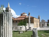 The ancient Roman forum in Zadar