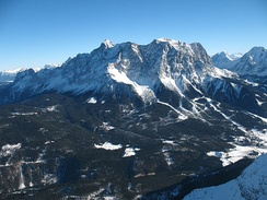 Zugspitze is the highest elevation in Germany