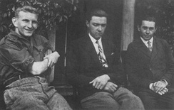 Shukhevych (left) in the  Second Republic in 1930