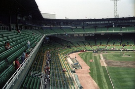 Batting practice at Comiskey Park in 1986