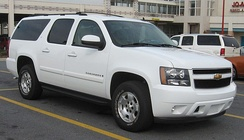 A Chevrolet Suburban extended-length SUV weighs 3,300 kg (7,200 lb) (gross weight)[43]
