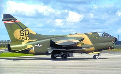 A-7D Corsair II 70-933, about 1980