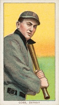 Fltr: Honus Wagner and Ty Cobb displayed on baseball cards