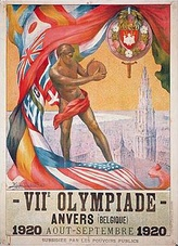 Official poster of the 1920 Summer Olympics in Antwerp.