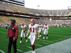 Redskins on the field in 2005