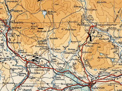 The position of Malham Tarn in the southern Yorkshire Dales