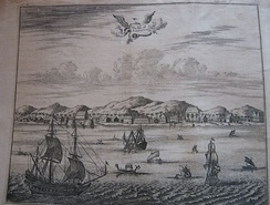 The Isle of Amboina, a 17th-century print, probably English