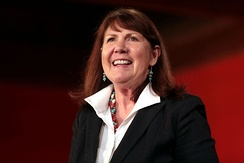 Kirkpatrick at a campaign event in Phoenix, Arizona.