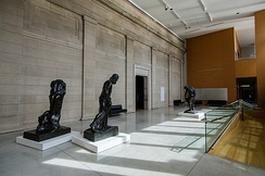 Several sculptures from the gallery's collection are displayed at the Joey & Toby Tanenbaum Sculpture Atrium.