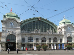 "Basel Bahnhof SBB, self-proclaimed ""world's first international railway station."""