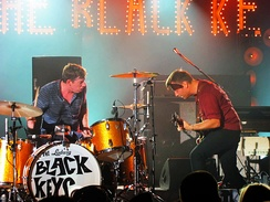 The Black Keys are a two-part band consisting of drummer and a vocalist/guitarist line-up.