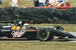 Rahal driving for Team Rahal at Mid-Ohio Sports Car Course in 1996