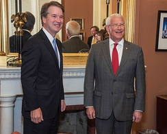 Supreme Court Nominee Judge Brett Kavanaugh and U.S. Senator Roger Wicker