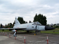 Convair F-102 Delta Dagger in Istanbul Aviation Museum.