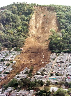landslide caused by the 2001 earthquake