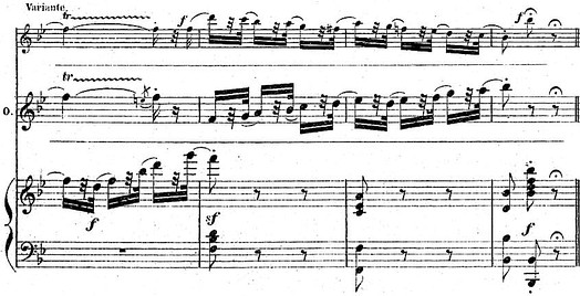 Final cadenza and variant from the Valse (piano-vocal score, p. 292)
