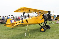 Wing stagger on a Fleet Finch primary trainer